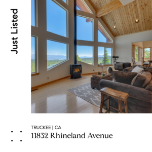 NEW LISTING – MOVIE THEATER AND VIEWS IN TAHOE DONNER