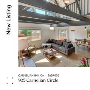NEW LISTING – EXTRAORDINARILY SIMPLE LIVING IN CARNELIAN BAY